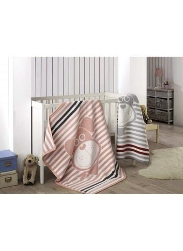 Komfort Home Kids Pamuklu Bebek Battaniyesi 100x120 CM (Gri) Gri